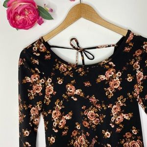 Forever 21 Floral Longsleeve Dress XS
